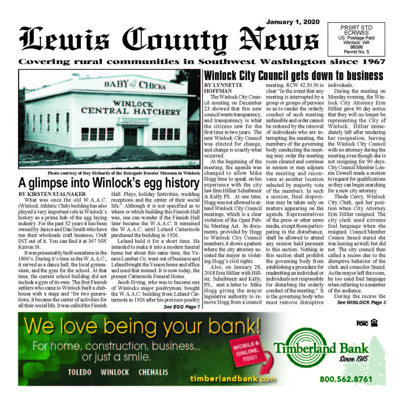 January 1, 2020 Lewis County News