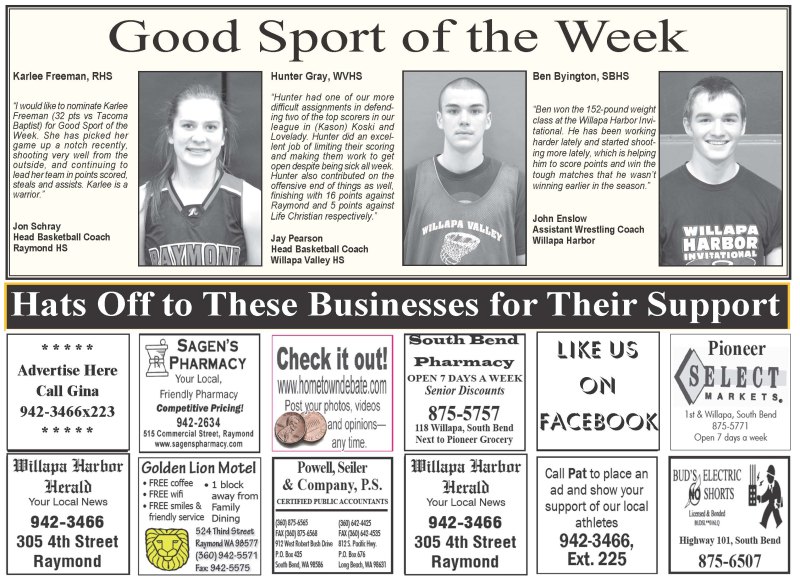 Good Sport of the Week 2.10.16