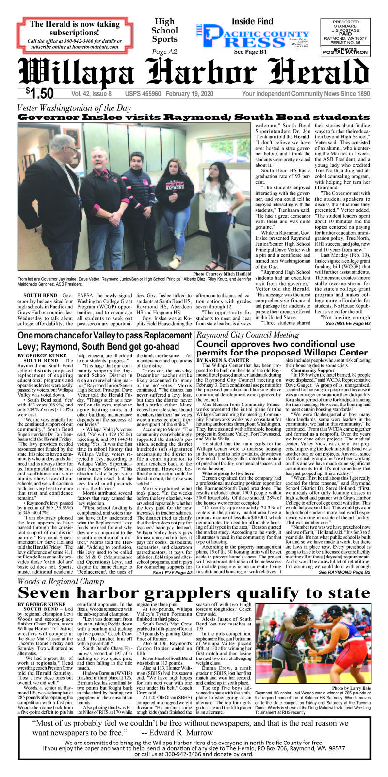 February 19, 2020 Willapa Harbor Herald and Pacific County Press