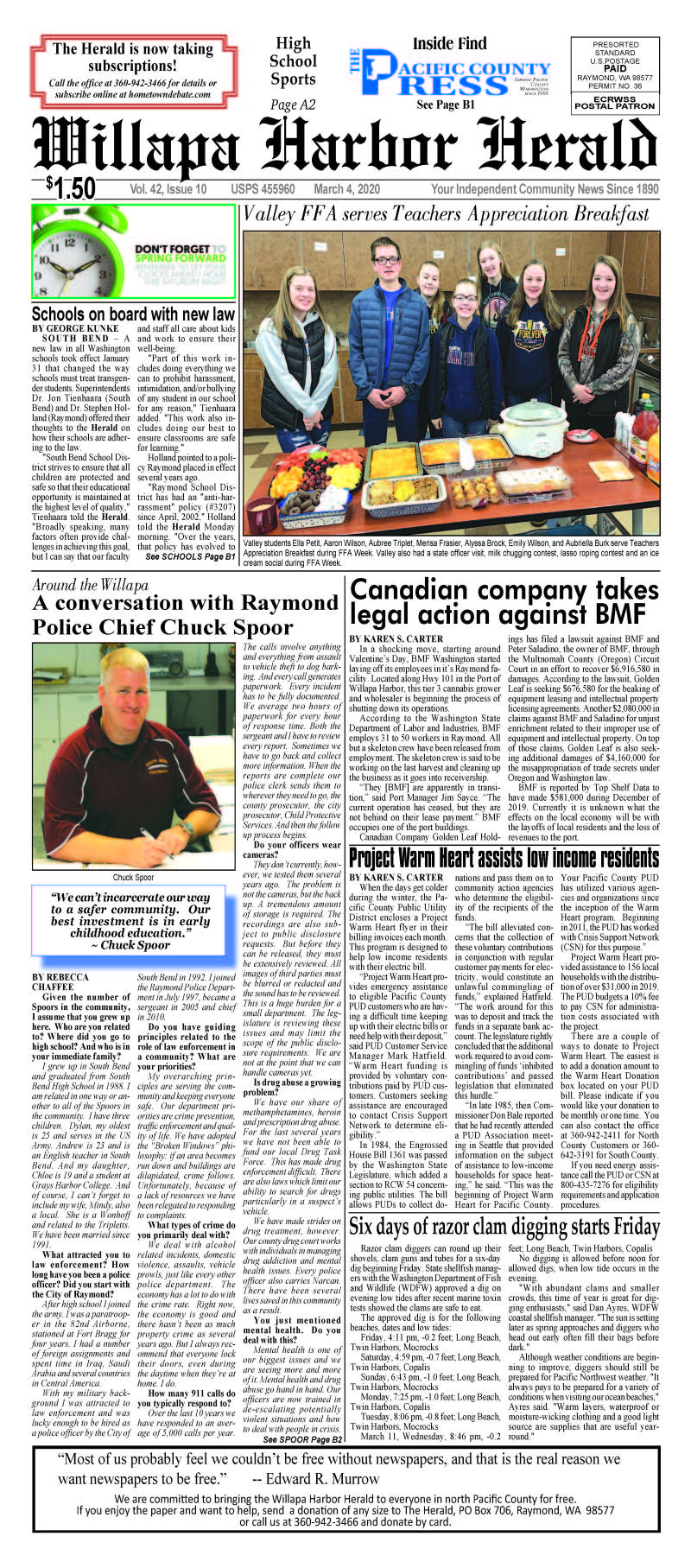 March 4, 2020 Willapa Harbor Herald and Pacific County Press