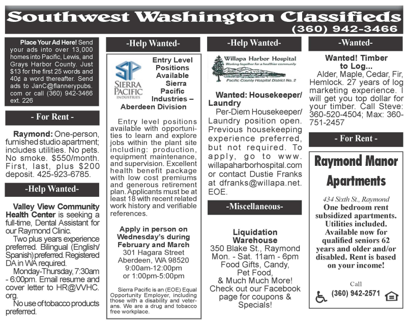 Classifieds 3.11.20