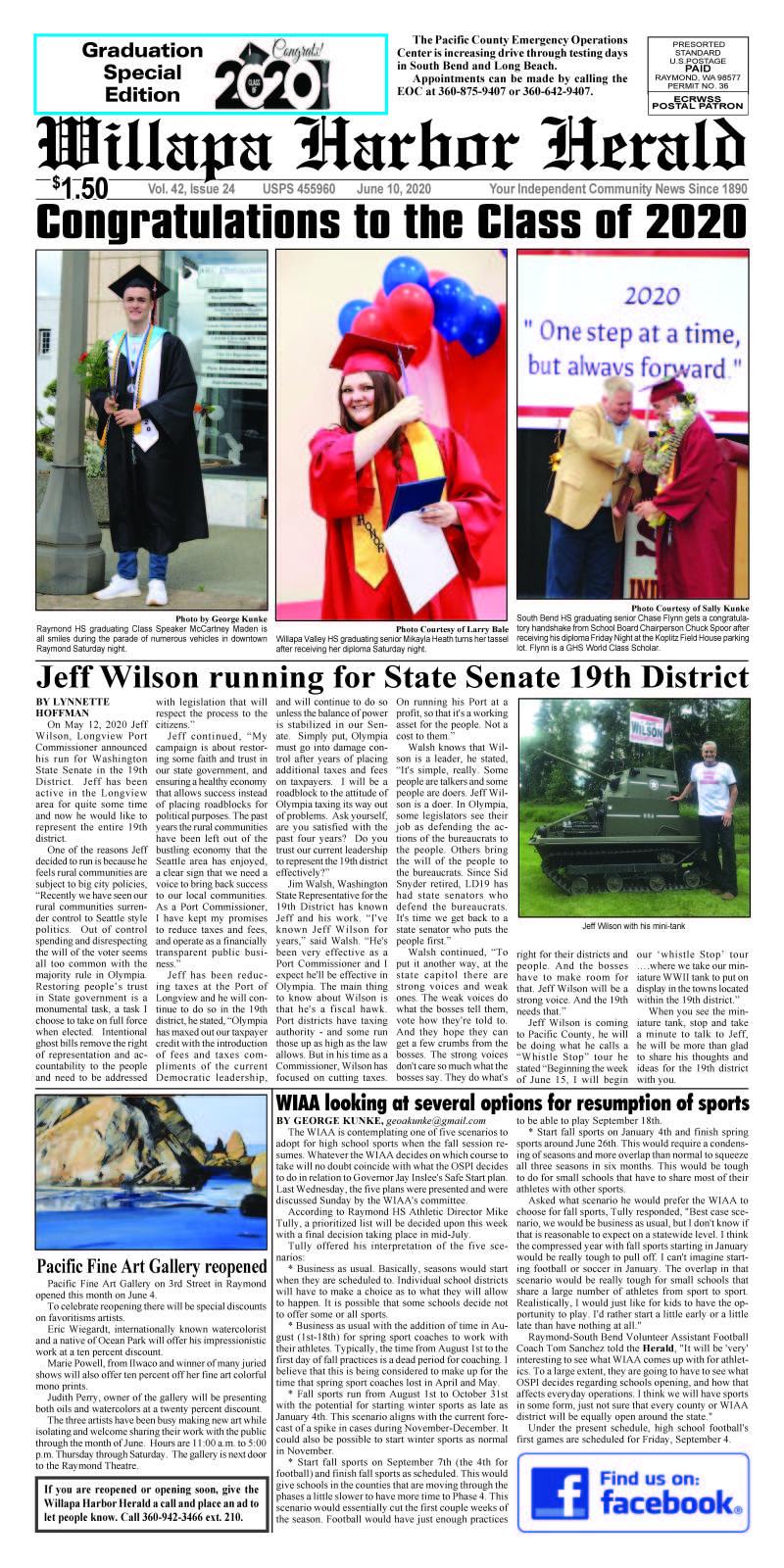 June 10, 2020 Willapa Harbor Herald and Pacific County Press