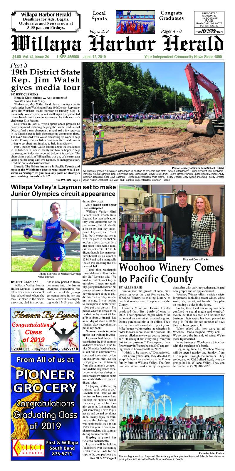 June 12, 2019 Willapa Harbor Herald