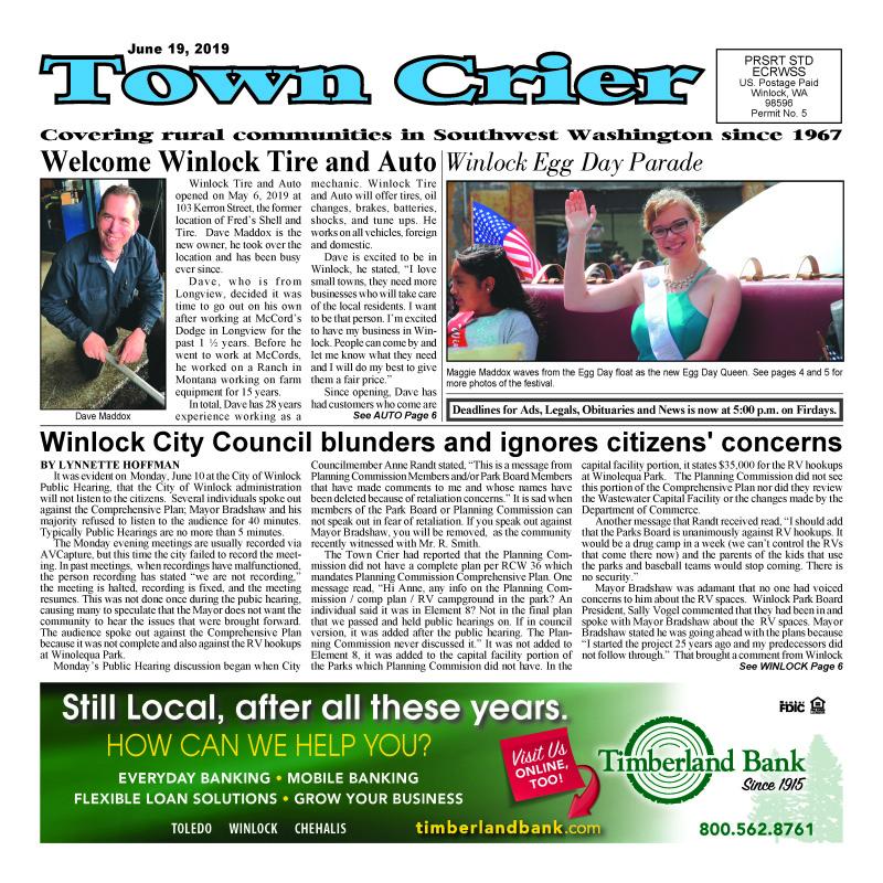 June 19, 2019 Town Crier