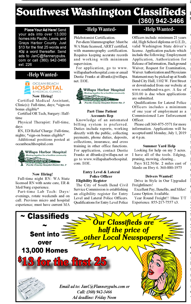 Classifieds 6.19.19