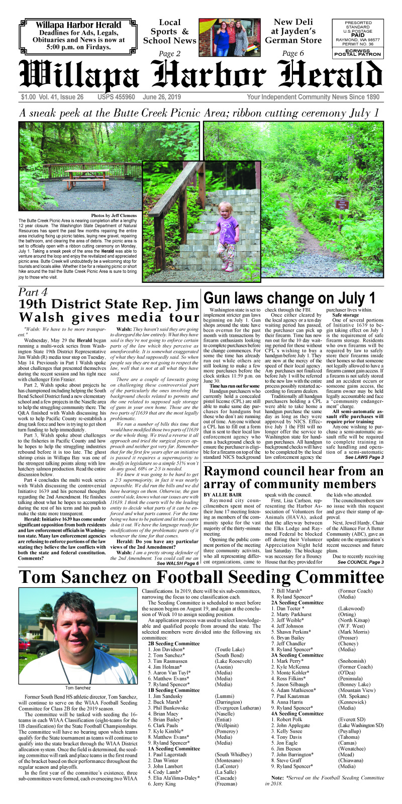 June 26, 2019 Willapa Harbor Herald