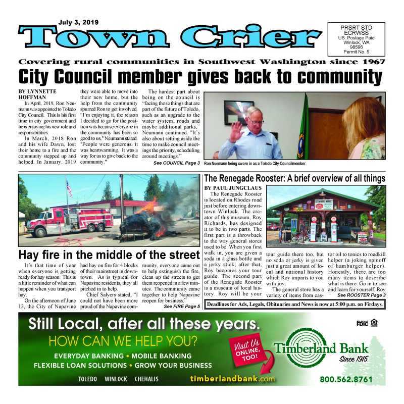 July 3, 2019 Town Crier