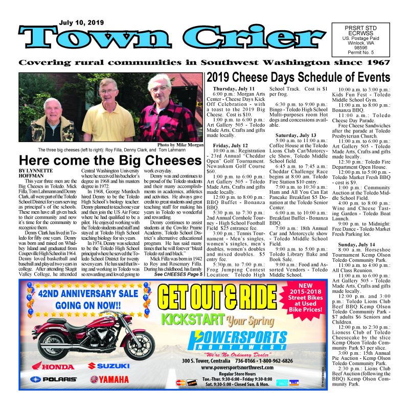 July 10, 2019 Town Crier