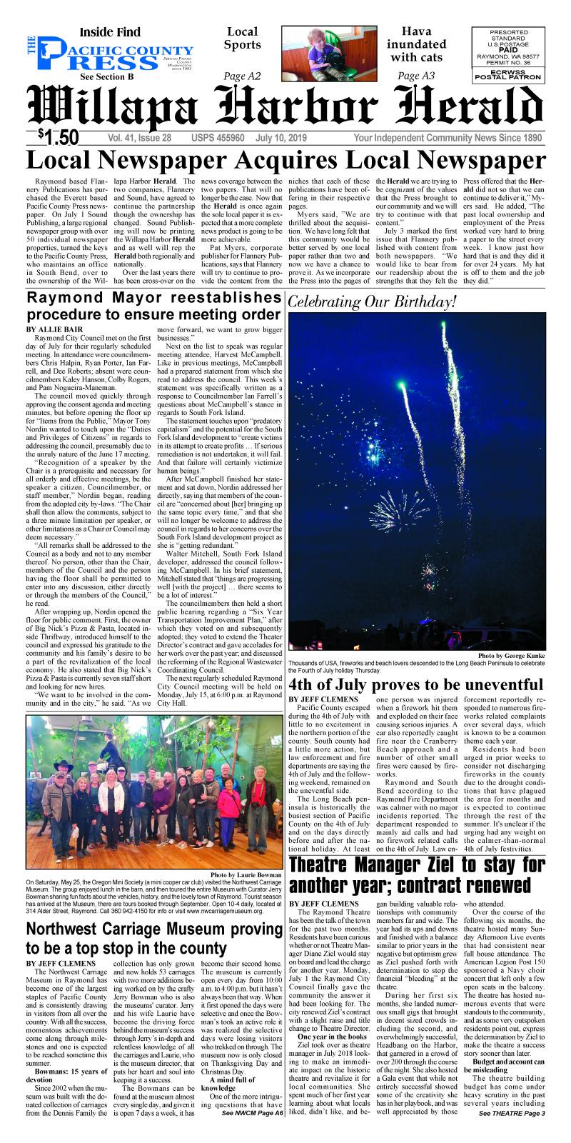 July 10, 2019 Willapa Harbor Herald