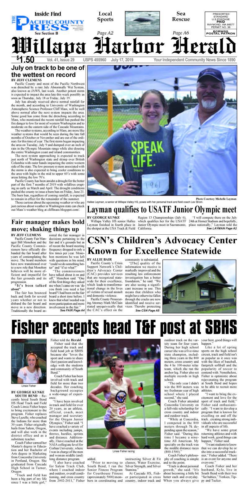 July 17, 2019 Willapa Harbor Herald