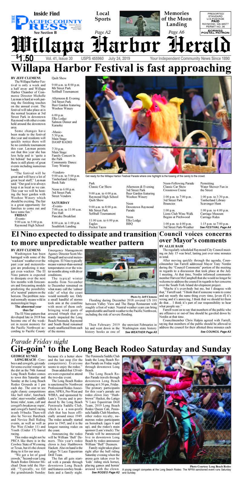July 24, 2019 Willapa Harbor Herald