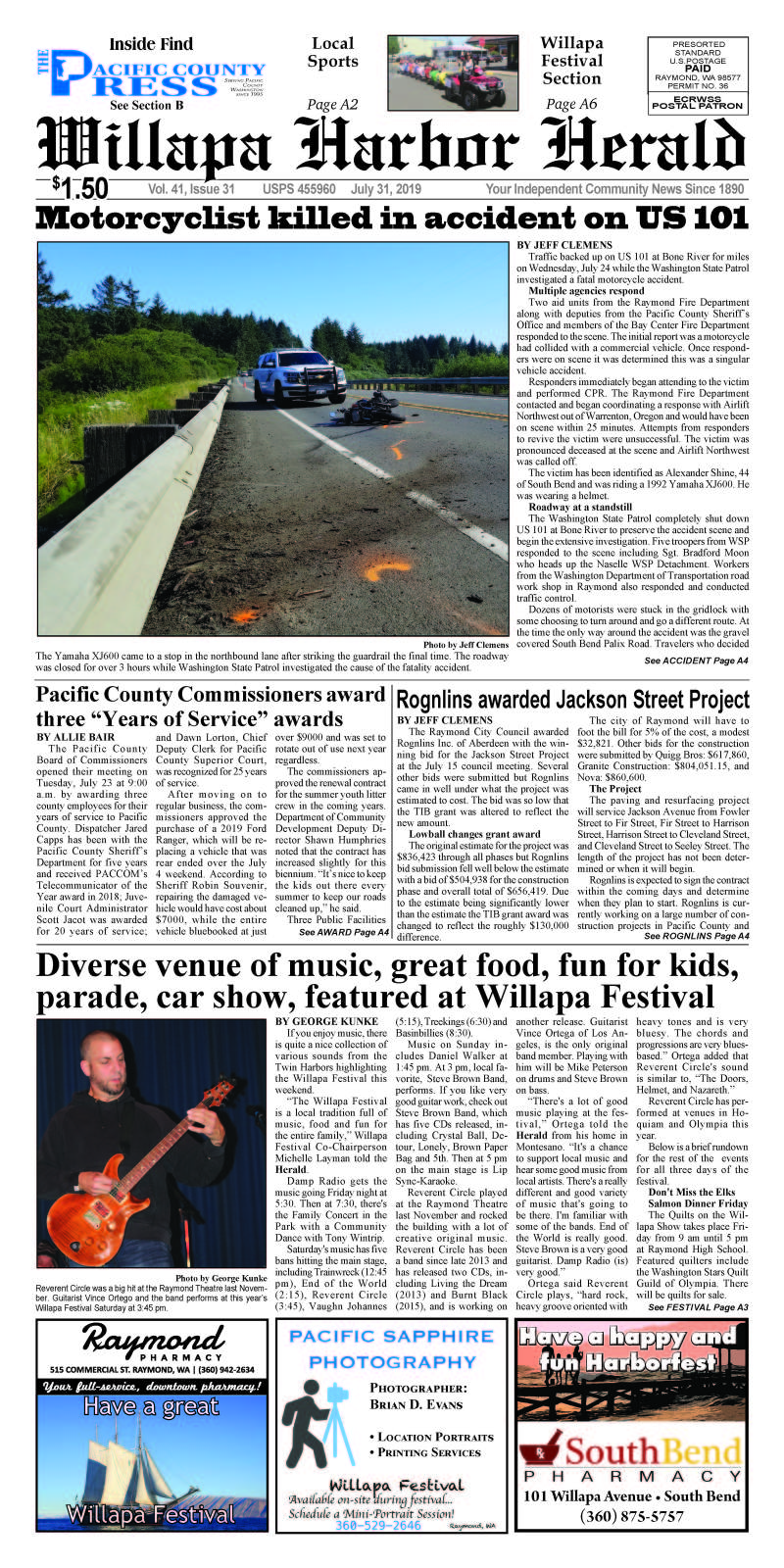July 31, 2019 Willapa Harbor Herald