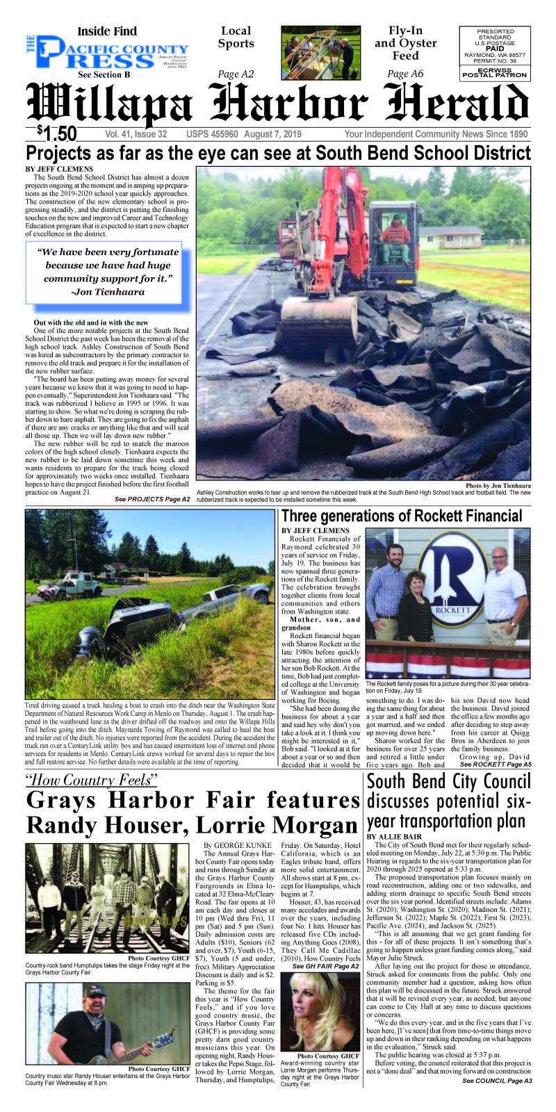 August 7, 2019 Willapa Harbor Herald