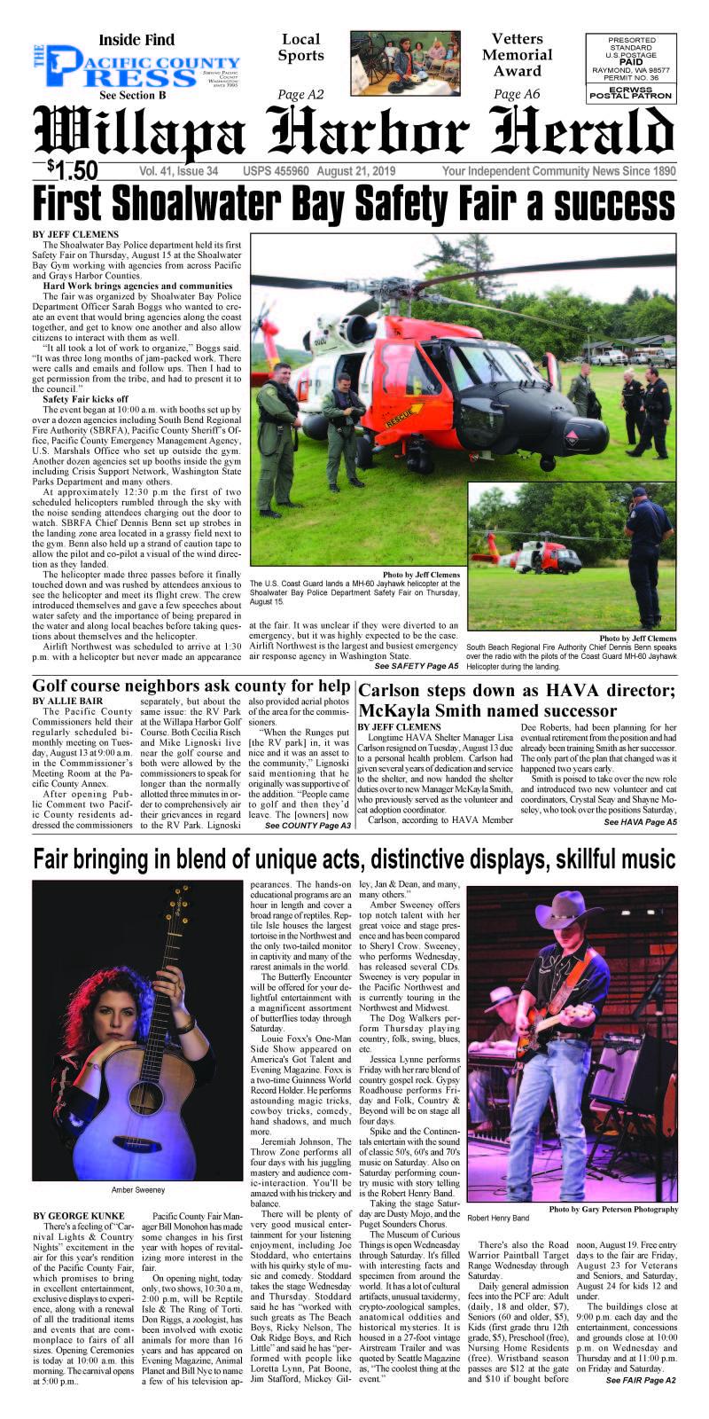 August 21, 2019 Willapa Harbor Herald
