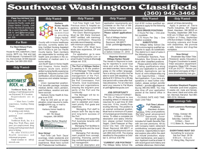 Classifieds 9.25.19