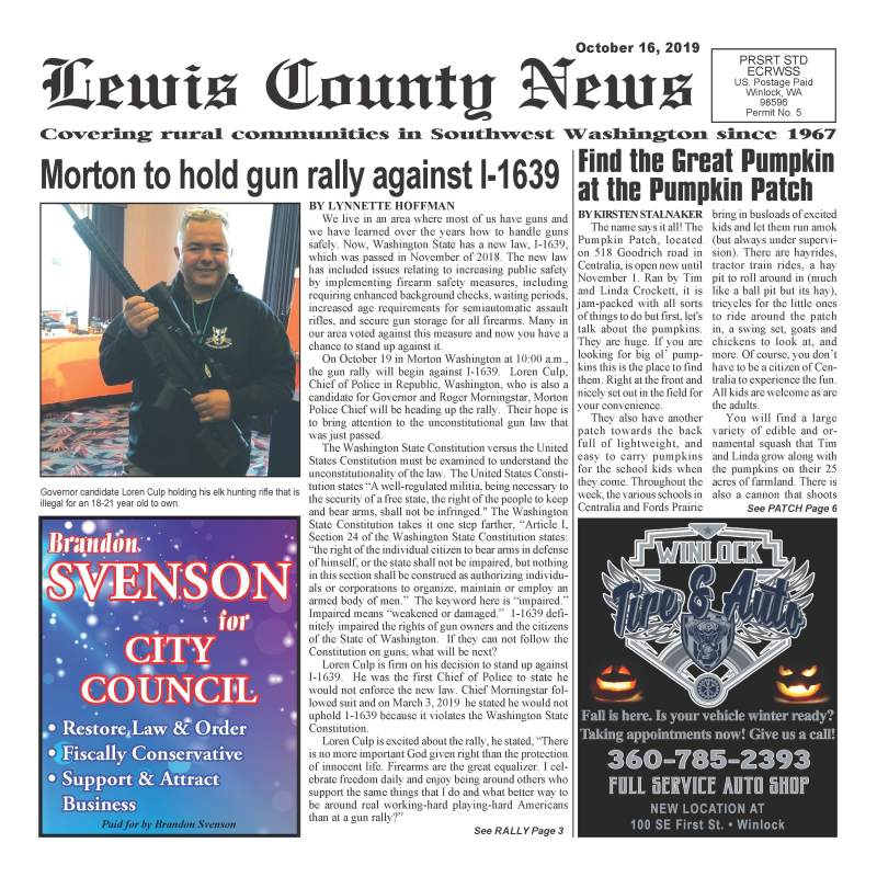 October 16, 2019 Lewis County News