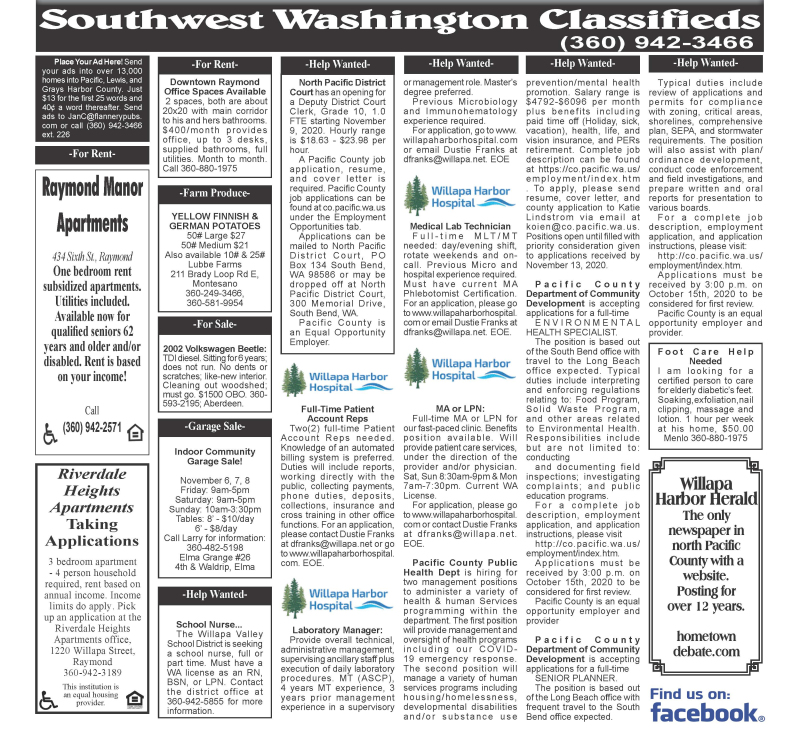 Classifieds 11.4.20