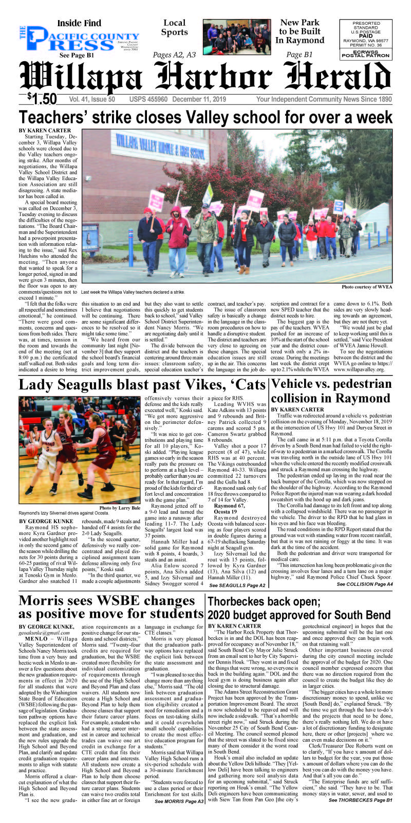 December 11, 2019 Willapa Harbor Herald and Pacific County Press