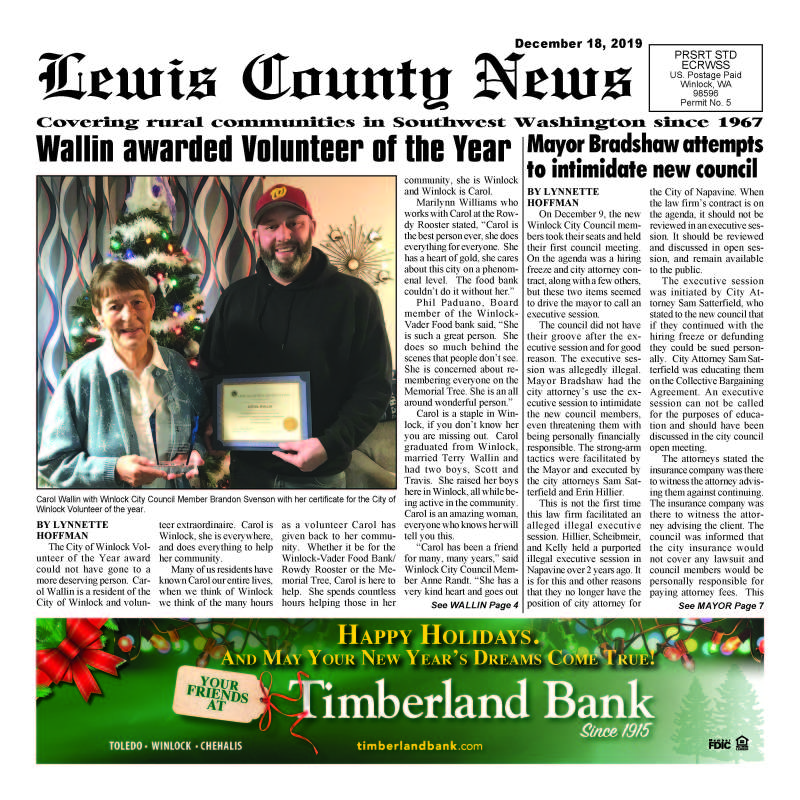 December 18, 2019 Lewis County News