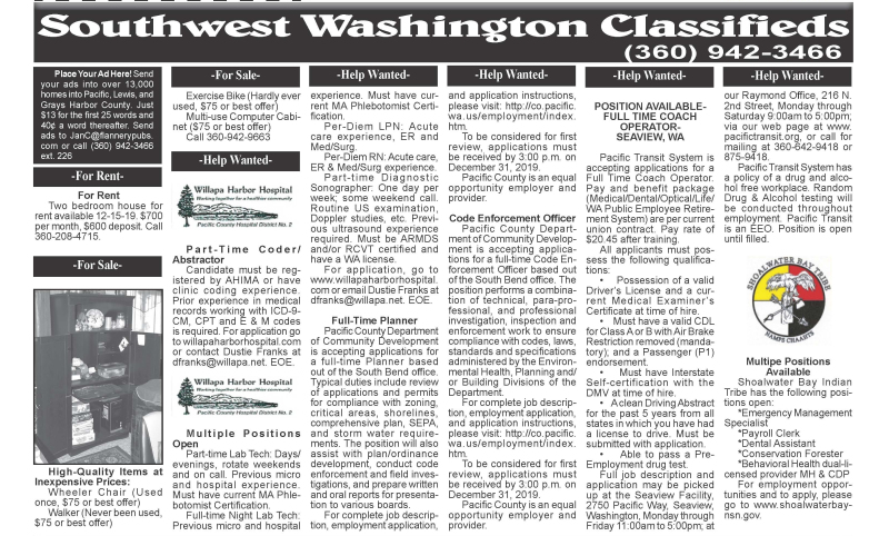 Classifieds 12.18.19