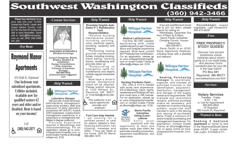Classifieds 12.2.20
