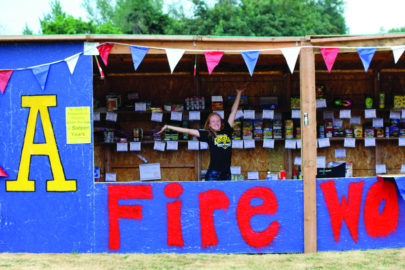 Fireworks stand supports Pirates