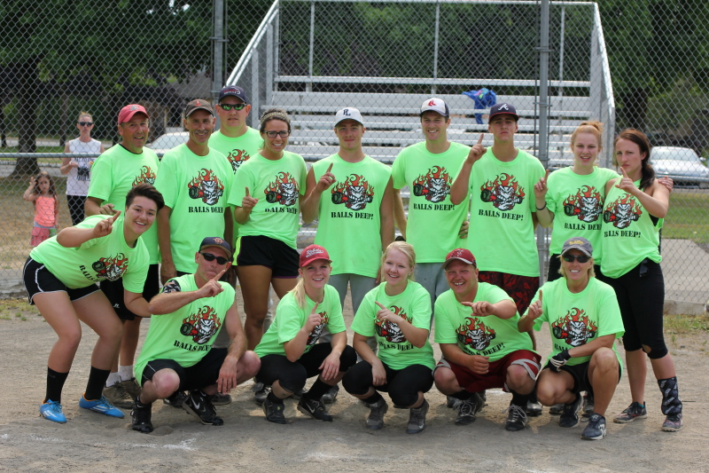 Good Sport of the Week: Balls Deep coed softball Champs  at Wood on the Willapa