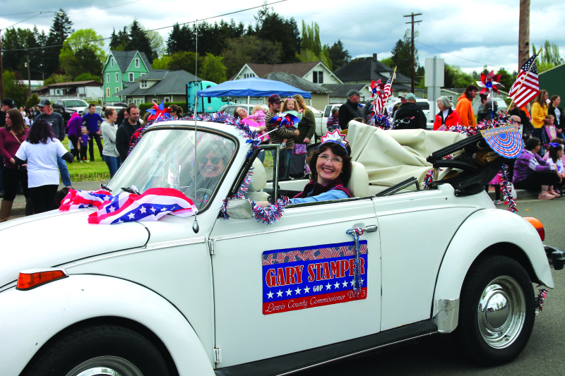 Photo by Lynnette Hoffman - Lewis County Commissioner Lindsey Pollock representing Lewis County Commissioners.