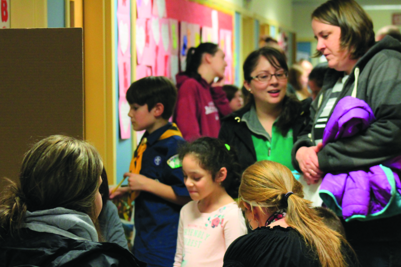 Reading night at Winlock Elementary