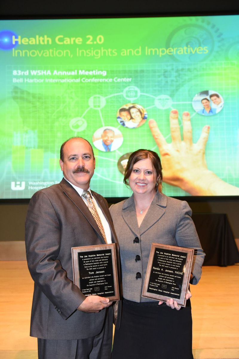 Local professionals Renee and Tom Jensen receive high accolades