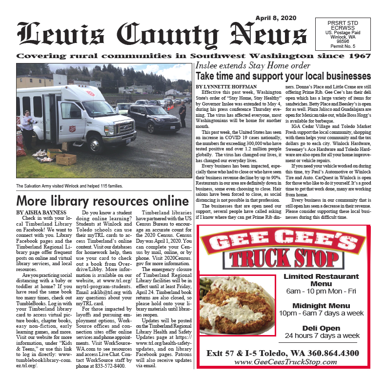 April 8, 2020 Lewis County News