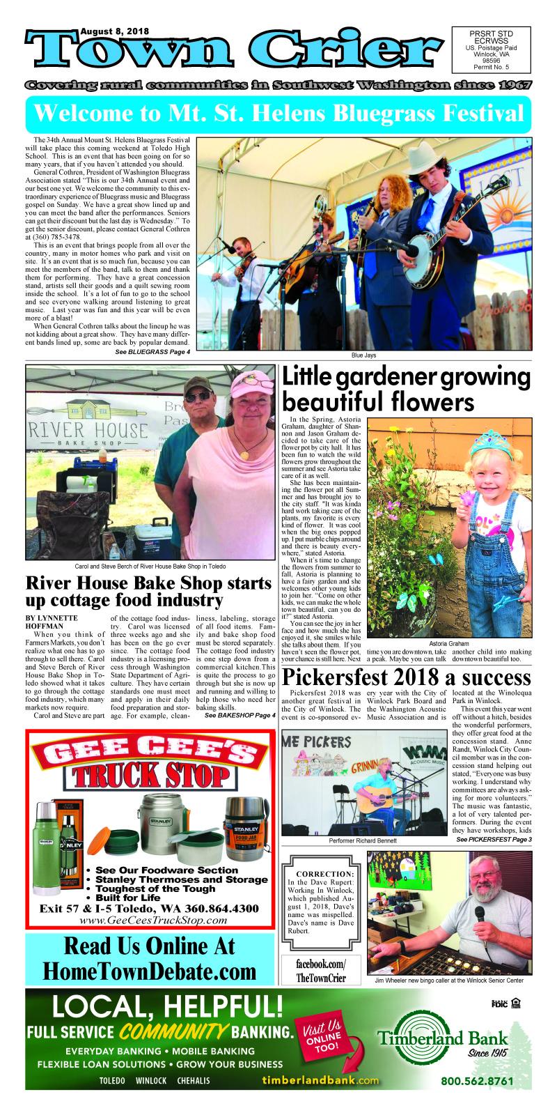 Town Crier August 8, 2018