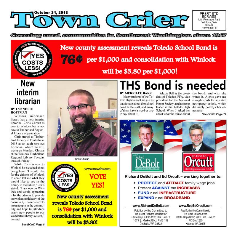 October 24, 2018 Town Crier