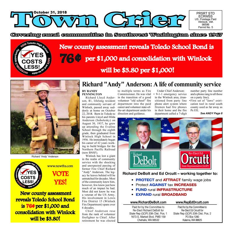 October 31, 2018 Town Crier