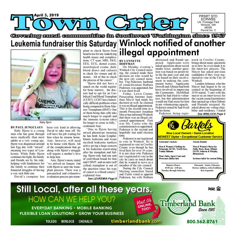 April 3, 2019 Town Crier