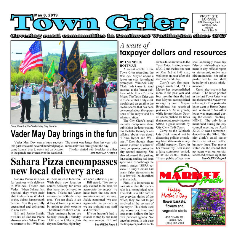 May 8, 2019 Town Crier