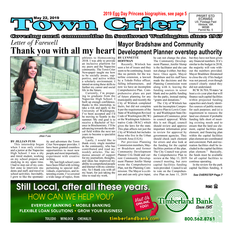 May 22,2019 Town Crier