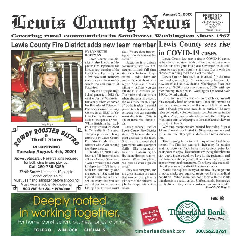 August 5, 2020 Lewis County News