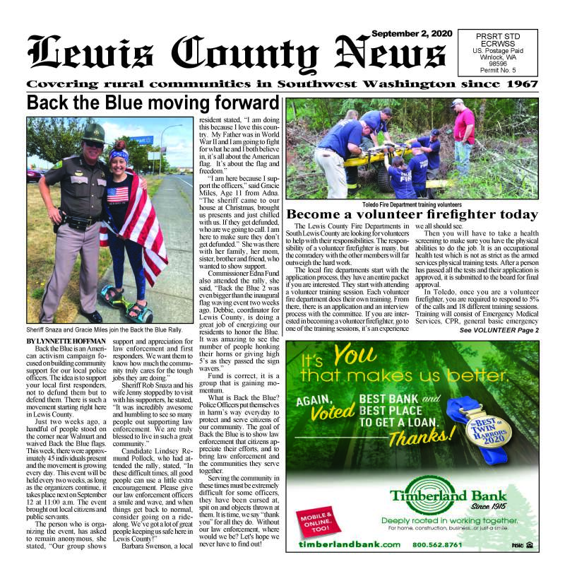 September 2, 2020 Lewis County News