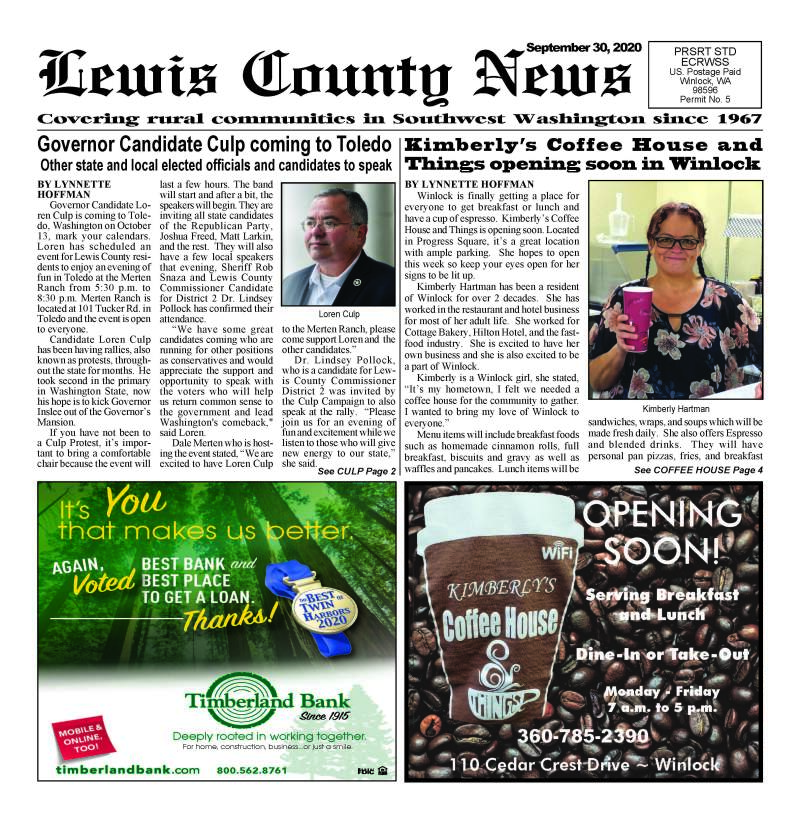 September 30, 2020 Lewis County News