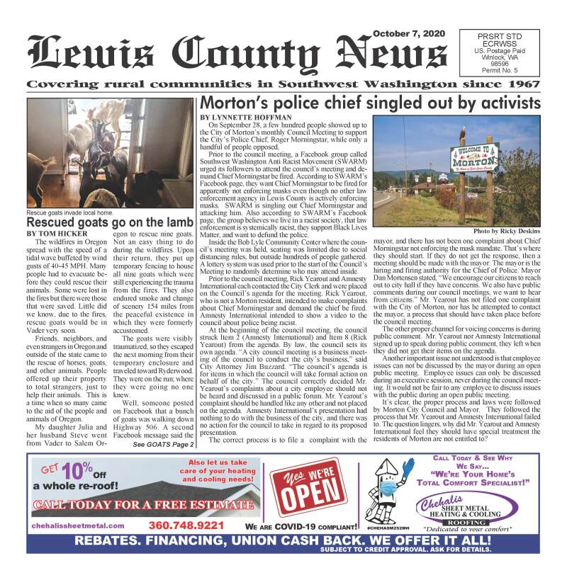 October 7, 2020 Lewis County News