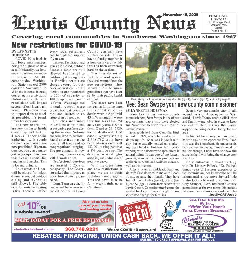 November 18, 2020 Lewis County News