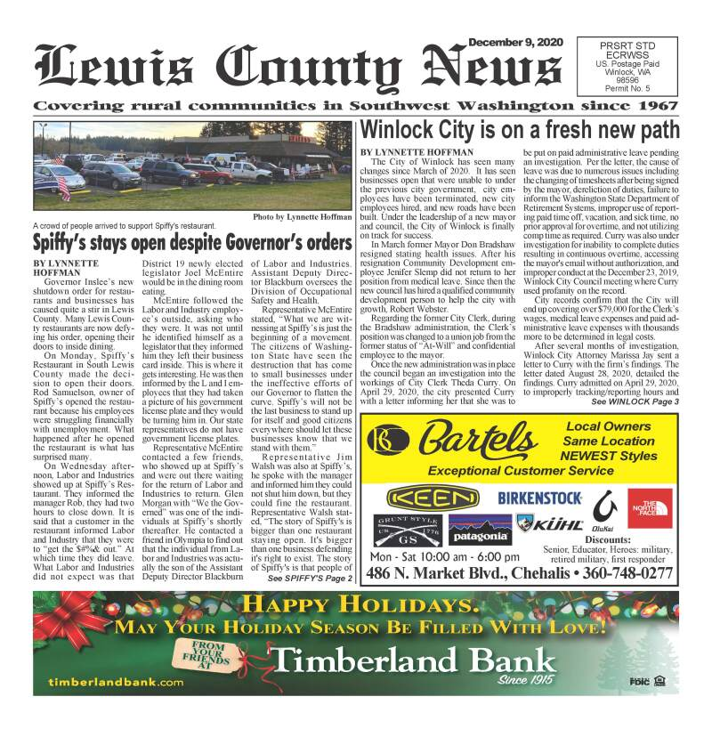 December 9, 2020 Lewis County News