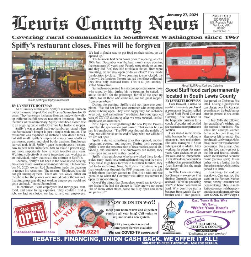 January 27, 2021 Lewis County News