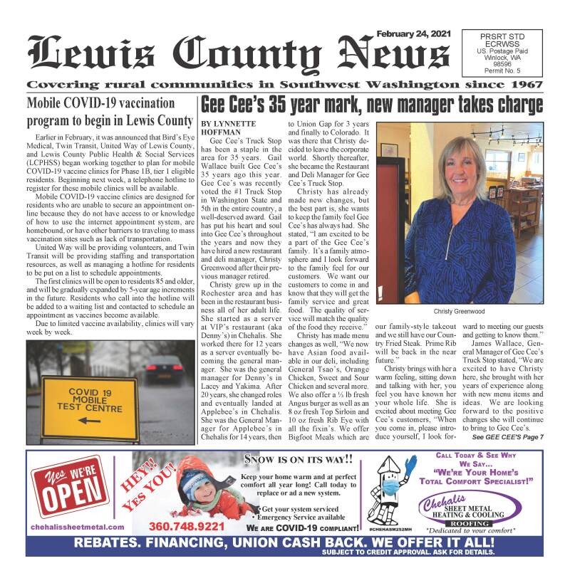 February 24, 2021 Lewis County News