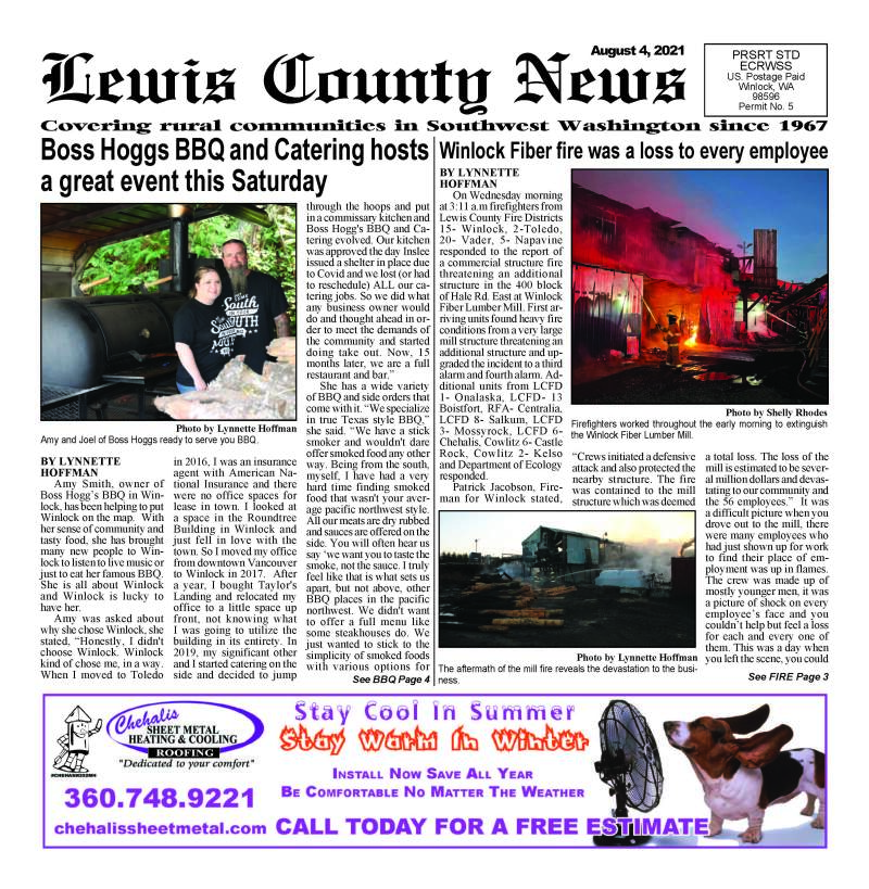 August 4, 2021 Lewis County News