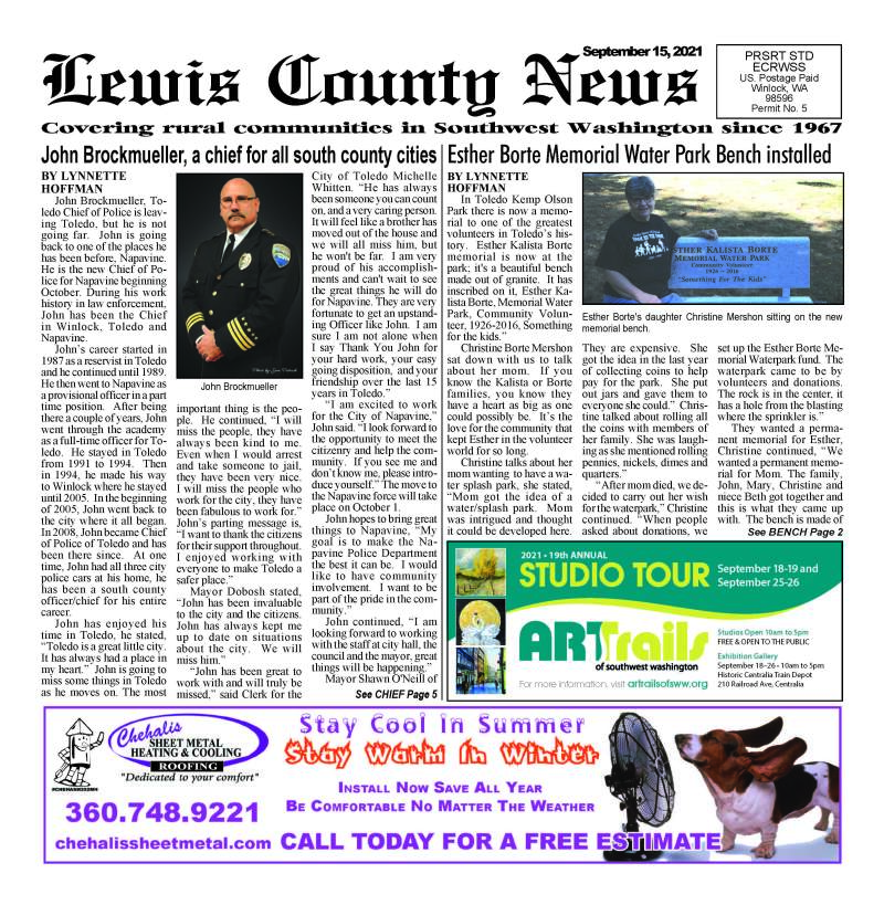 September 15, 2021 Lewis County News