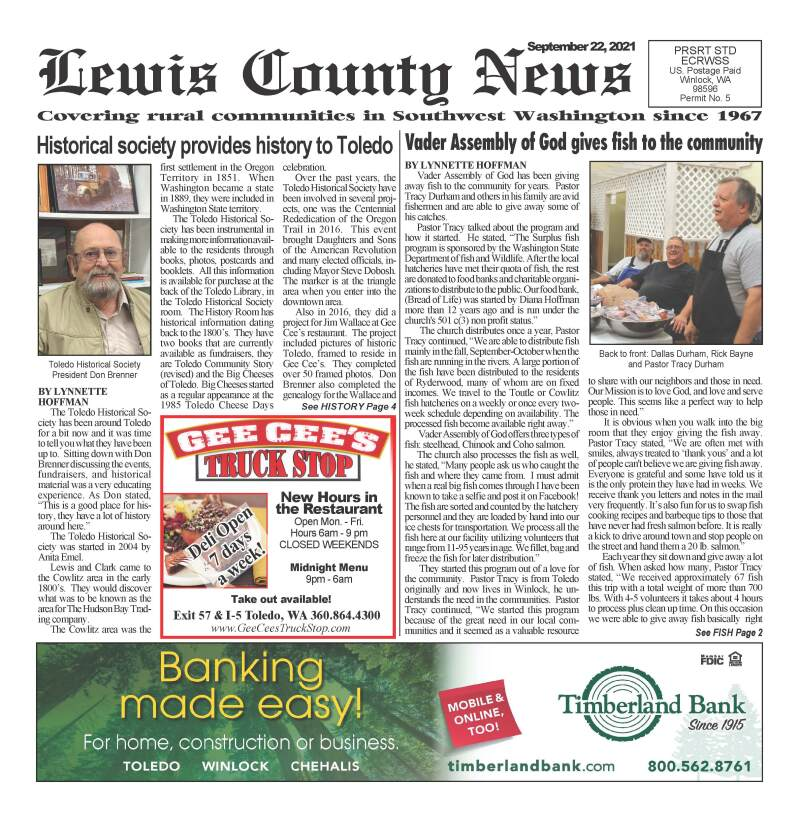 September 22, 2021 Lewis County News