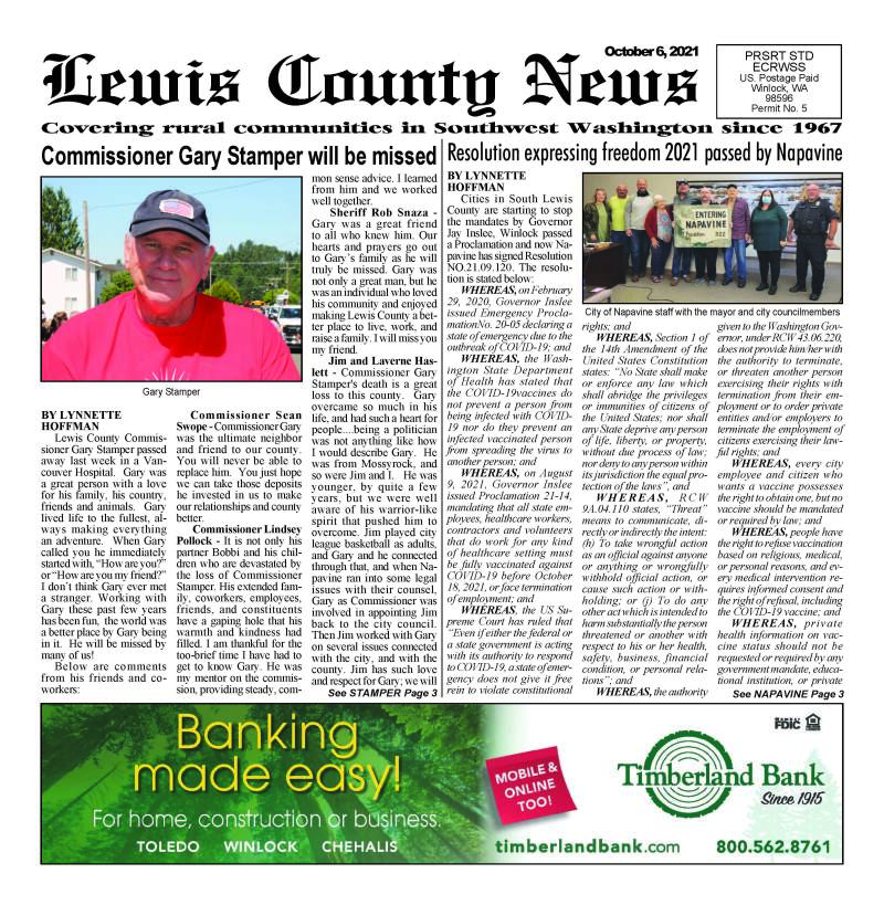 October 6, 2021 Lewis County News