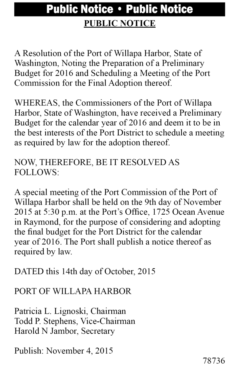 Legal 78736: Public Notice